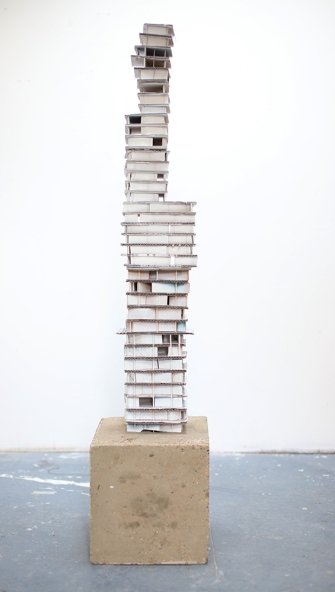 Untitled, 1300 x 300 x 300mm, Concrete, Cardboard, Enamel
